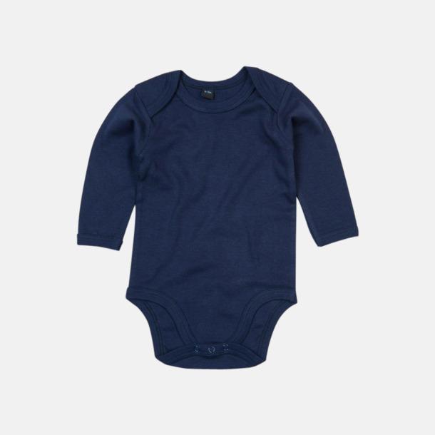 Nautical Navy (lång) Ekologiska bodysuits med korta eller långa ärmar - med reklamtryck