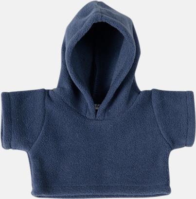 Marinblå (fleece) Små huvtröjor för gosedjur - med reklamtryck