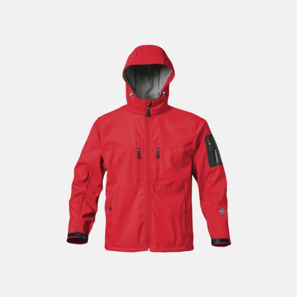 Röd Riktigt fina soft shell jackor med reklamtryck