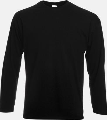 Svart Långärmad t-shirt med reklamtryck