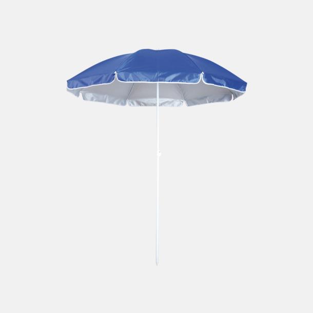 Blå Parasoller för stranden med reklamtryck