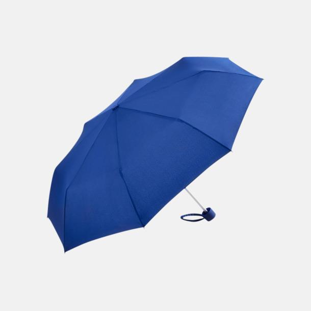 Euro Blue Kompaktparaplyer i aluminium med tryck