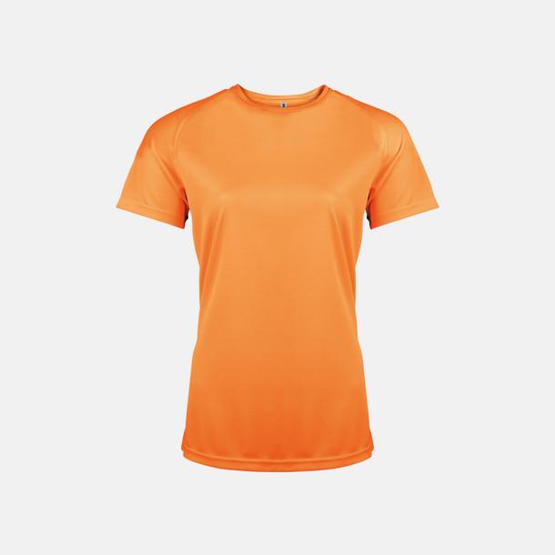 Orange Sport t-shirts i många färger för damer - med reklamtryck
