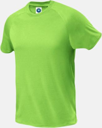 Floucerande Grön (herr) Funktions t-shirts i herr- & dammodell med reklamtryck