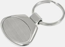 Oval nyckelring i metall