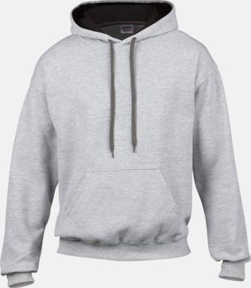 Sport Grey (heather)/Svart Tvåfärgade huvtröjor med reklamtryck