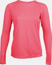 Sport t-shirts med långa ärmar för kvinnor - med reklamtryck