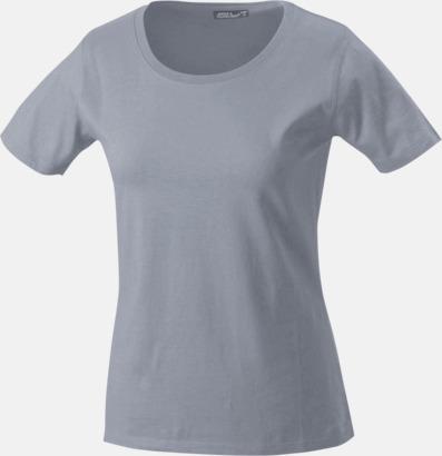 Grey Heather T-shirtar av kvalitetsbomull med eget tryck