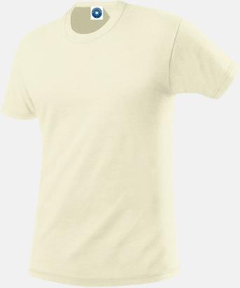 Natur Herr t-shirts i ekologisk bomull