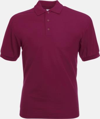 Burgundy Pikétröjor med reklamtryck eller brodyr