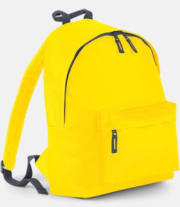 Gul/Graphite Grey Klassisk ryggsäck i 2 storlekar med eget tryck