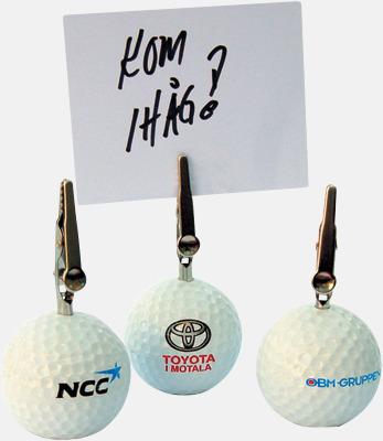 Vit Golf Memoklämma - Med tryck