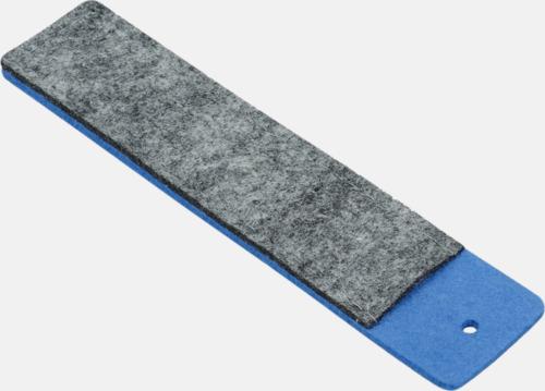 Grå/Blå Pennfodral i filt med reklamtryck