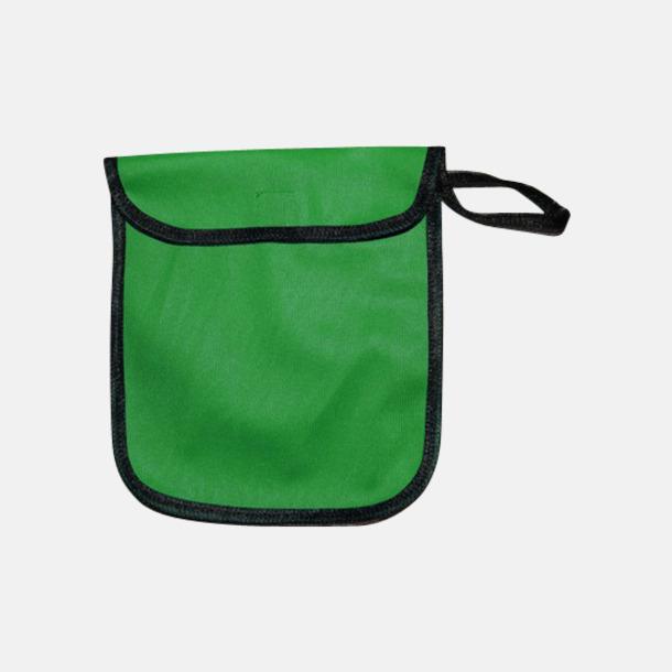 Grön Fodral för reflexvästar med reklamtryck