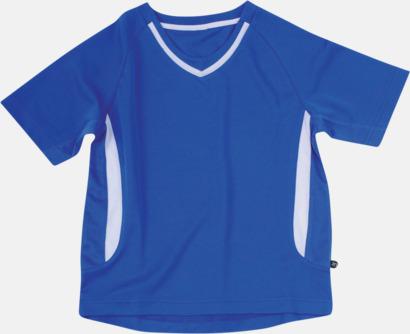Blå / Vit Snabbtorkande funktionströjor med eget tryck eller bordyr