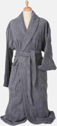 Anthracite Grey Färgglada badrockar med brodyr