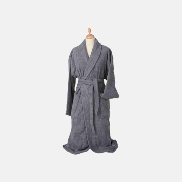 Anthracite Grey (mörk) Färgglada badrockar med reklambrodyr