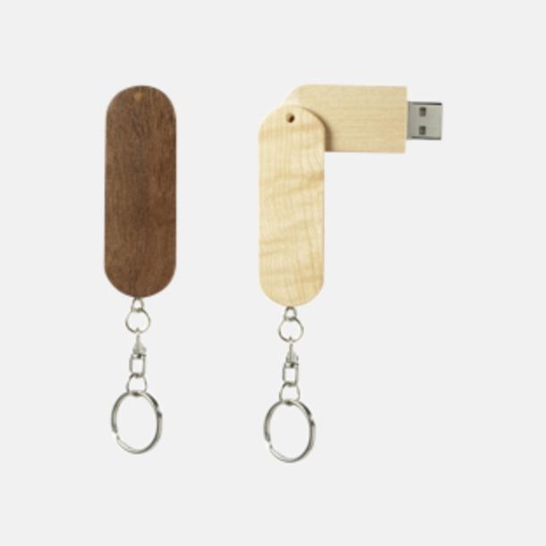 Eko twist USB-minne i bambu med reklamtryck