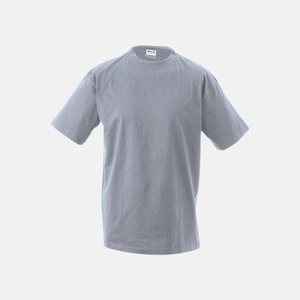Grey Heather Barn t-shirtar av kvalitetsbomull med eget tryck