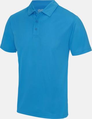 Sapphire Blue Färgglada pikétröjor med reklamtryck