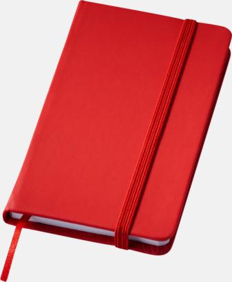 Röd (small) Notisblock med PVC-omslag - med tryck