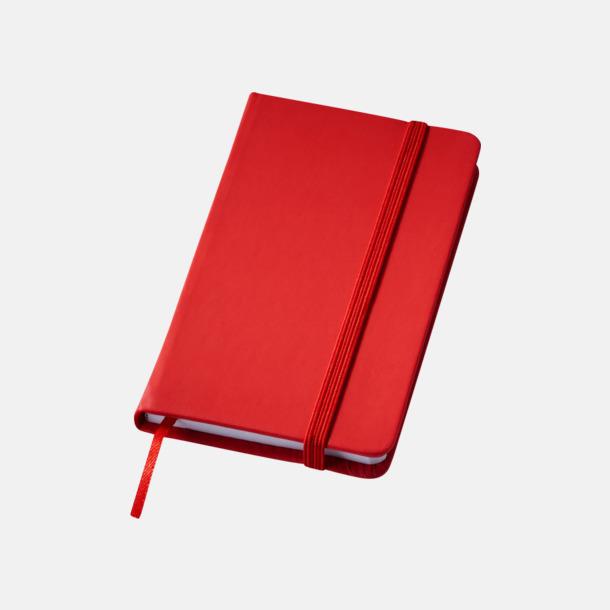 Röd Notisblock med PVC-omslag - med tryck
