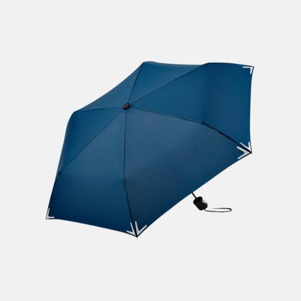Marinblå Kompakta reflex paraplyer med eget reklamtryck