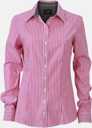 Mörklila-Vit/Graphite (dam) Blusar & skjortor i randigt mönster med reklamtryck
