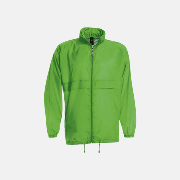 Real Green (unisex) Vind- och vattentäta jackor för dam, herr och barn - med tryck