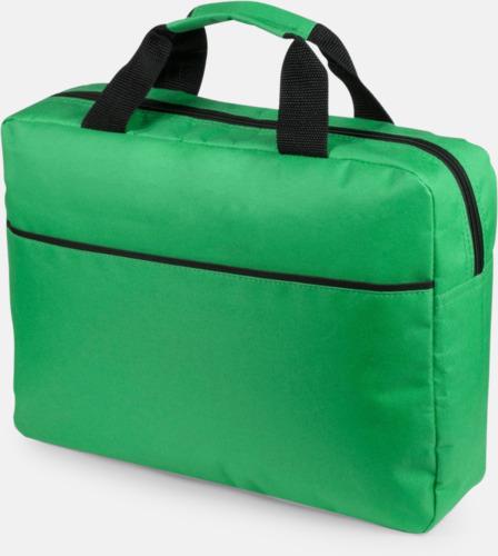 Grön Dokumentväska med reklamtryck