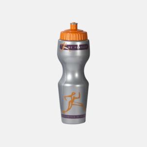 Kurviga vattenflaskor med reklamtryck