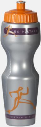 Shiny Silver Kurviga vattenflaskor med reklamtryck