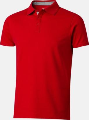 Röd (herr) Kvalitets pikéer i herr- och dammodell med reklamtryck