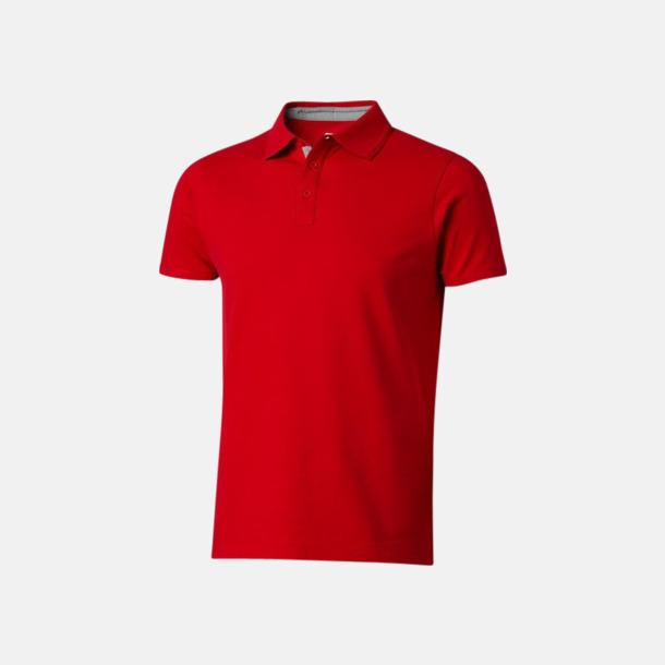 Röd/Grå (herr) Kvalitets pikéer i herr- och dammodell med reklamtryck
