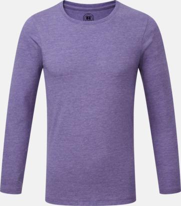 Purple Marl (pojke) Färgstarka långärms t-shirts i herr-, dam och barnmodell