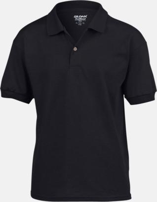 Svart Billiga barnpikétröjor med tryck eller brodyr