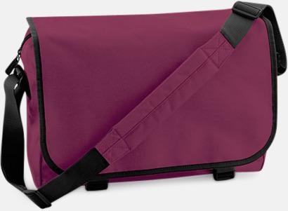 Burgundy/Svart Billiga väskor med reklamtryck