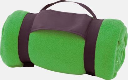 Grön Billiga fleecefiltar med tryck
