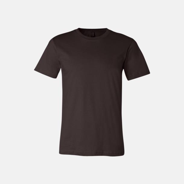 Brun T-shirts för herr och dam - med reklamtryck