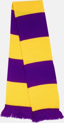 Lila/gul Halsdukar i olika lagfärger med egen brodyr