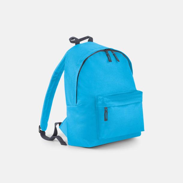 Surf Blue/Graphite Grey Klassisk ryggsäck i 2 storlekar med eget tryck