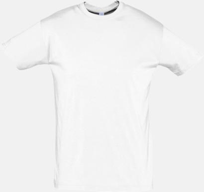 Vit Billiga herr t-shirts i rmånga färger med reklamtryck