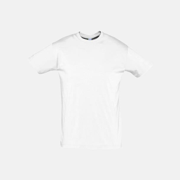 Vit Billiga unisex t-shirts i många färger med reklamtryck