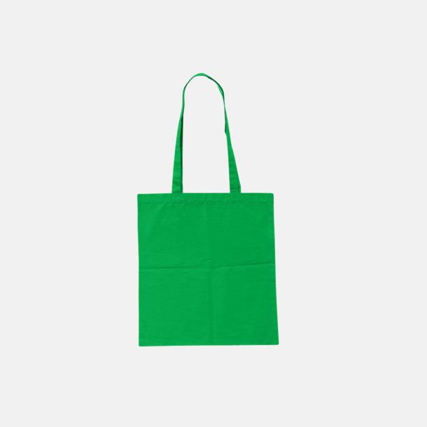 Ljusgrön (pms 355 U) Billiga tygkassar med tryck