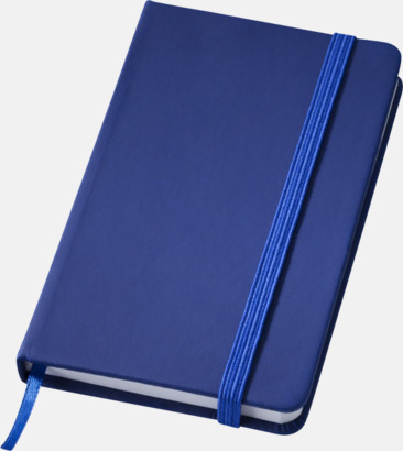 Mörkblå (small) Notisblock med PVC-omslag - med tryck