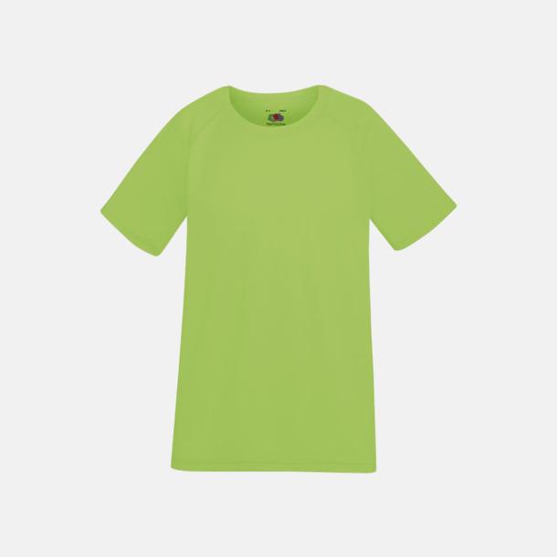 Limegrön (barn) Funktionströjor för herr, dam och barn - med reklamtryck