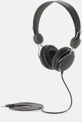 Svart Hörlurar i många färger med reklamtryck