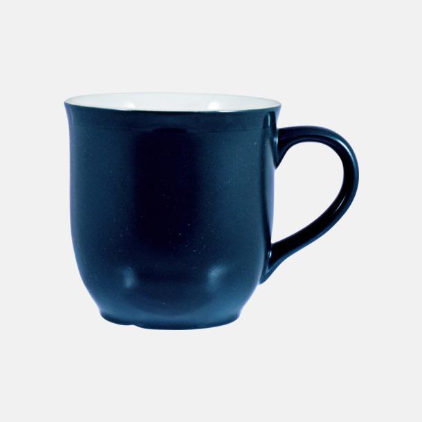 Marinblå/Vit Fina kaffemuggar med reklamtryck