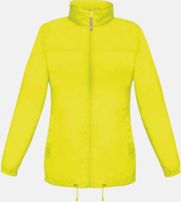 Ultra Yellow (dam) Vind- och vattentäta jackor för dam, herr och barn - med tryck