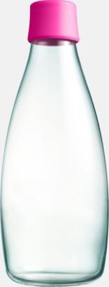 Rosa Större glasflaskor med reklamtryck